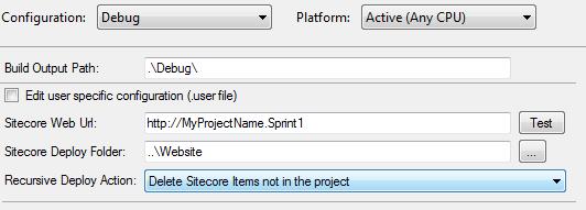 TDS Project Build Configurations