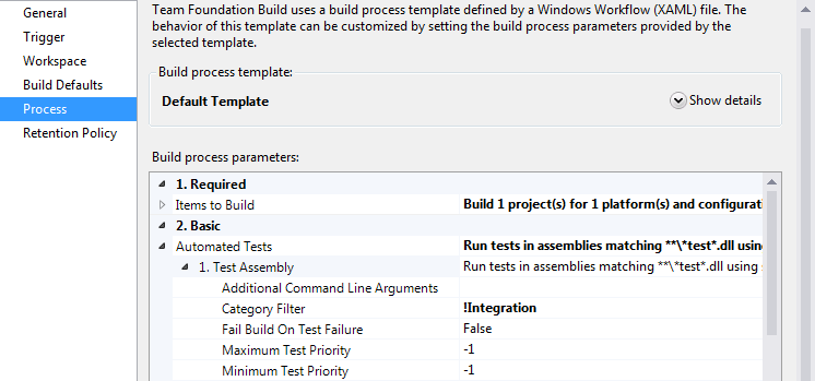 Builds - Automated Tests - Category Filter
