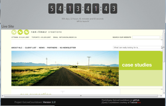 GoLive Countdown - Live Site