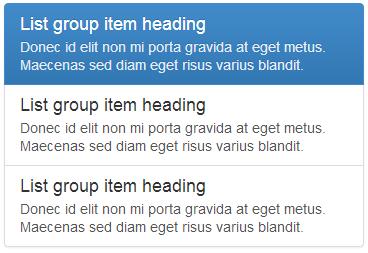 List group heading