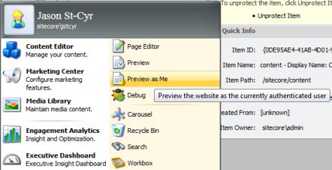 Preview as Me: Desktop Applications