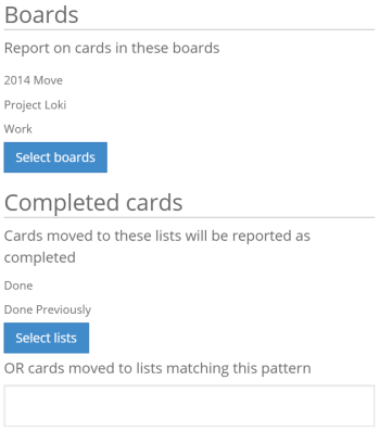 Backlog and Completed Cards mapping from lists in Trello